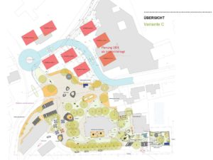 Plan Variante C des Dorfplatzes