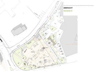 Plan Variante D des Dorfplatzes